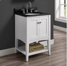 """Shaker Americana 24"""" Open Shelf Vanity - Polar White"""