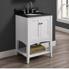 "Shaker Americana 24"" Open Shelf Vanity - Polar White"
