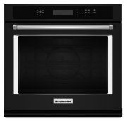 """30"""" Single Wall Oven with Even-Heat True Convection - Black Product Image"""