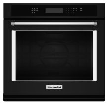 "30"" Single Wall Oven with Even-Heat True Convection - Black"