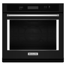 """30"""" Single Wall Oven with Even-Heat True Convection - Black"""