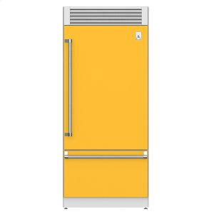 "Hestan36"" Pro Style Bottom Mount, Top Compressor Refrigerator - KRP Series - Sol"
