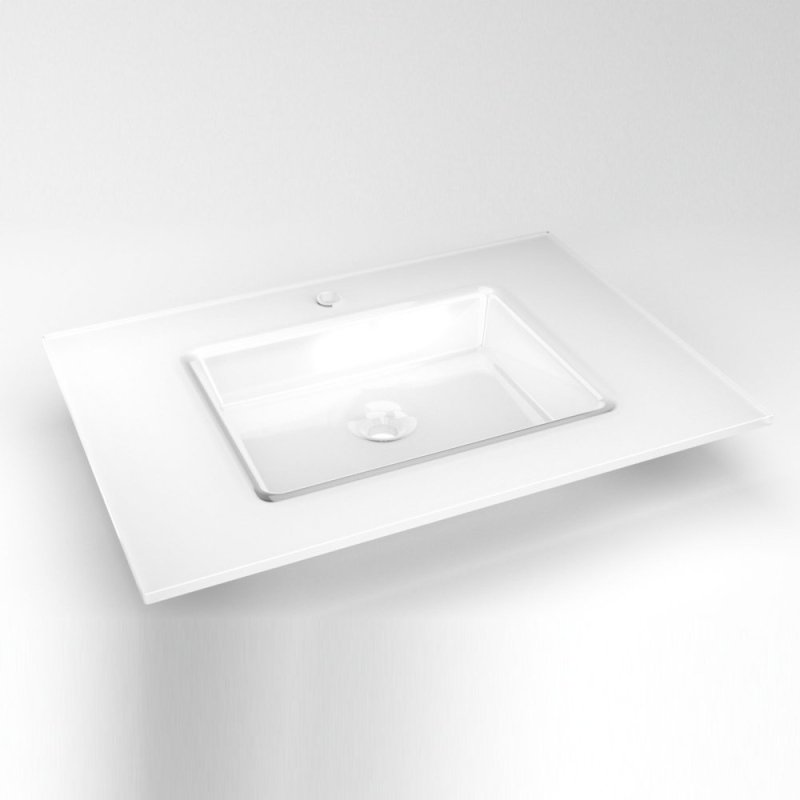 Gl 31 X 22 19 32 Vanity Top In White With
