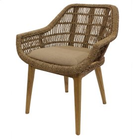 Leia KD Rattan Side Chair, Natural