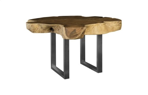 Live Edge Dining Table, Chamcha Wood, Round