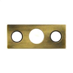 """Strike Plate For 7"""" Flush Bolt - Antique Brass"""