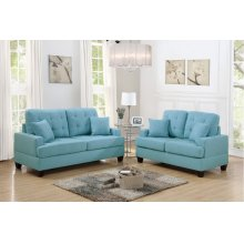 F6502 / Cat.19.p34- 2PCS SOFA SET BLUE