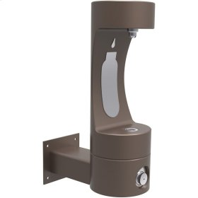 Elkay Outdoor EZH2O Bottle Filling Station Wall Mount, Non-Filtered Non-Refrigerated Brown