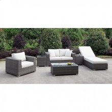 Somani Love Seat + Chair + Adj Chaise + 2 End Tables + Coffee Table