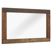 Arwen Rustic Wood Frame Mirror in Walnut