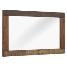 Arwen Rustic Wood Frame Mirror in Walnut