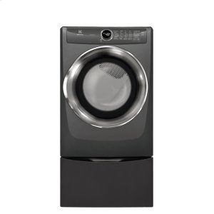 Front Load Perfect Steam™ Electric Dryer with LuxCare® Dry and Instant Refresh - 8.0 Cu. Ft. - TITANIUM