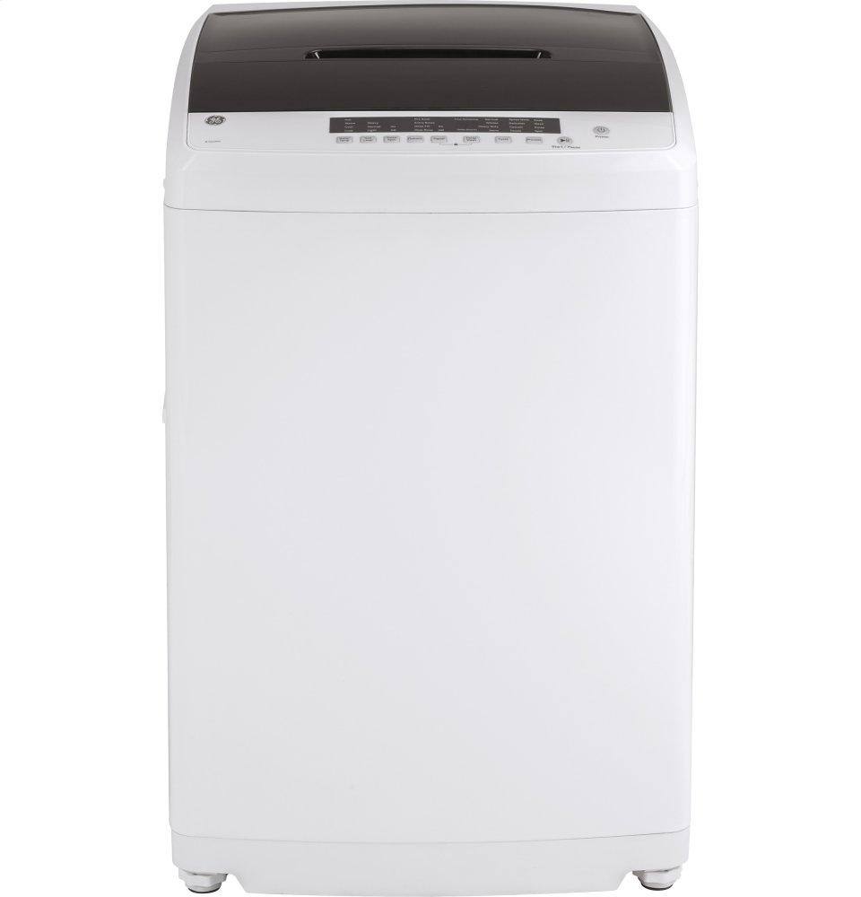 GE(R) Space-Saving 2.8 DOE cu. ft. Capacity Portable Washer with Stainless Steel Basket  WHITE