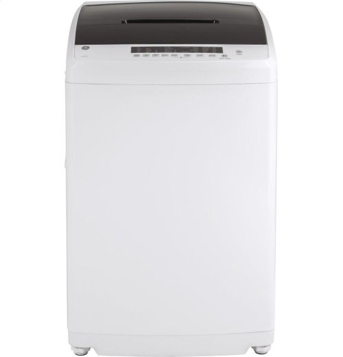 GE® Space-Saving 2.8 DOE cu. ft. Capacity Stationary Washer with Stainless Steel Basket