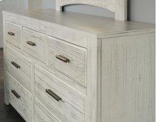 7 Drawer Dresser with Landscape Mirror