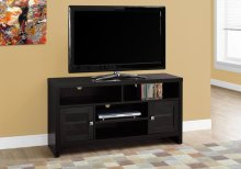 "TV STAND - 48""L / CAPPUCCINO WITH GLASS DOORS"