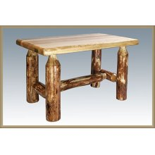 Glacier Country Log Ottoman