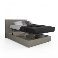 Upholstered storage bed