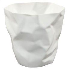 Lava Trash Bin in White Product Image