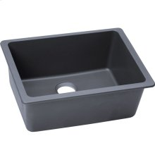 "Elkay Quartz Classic 24-5/8"" x 18-1/2"" x 9-1/2"", Single Bowl Undermount Sink, Dusk Gray"