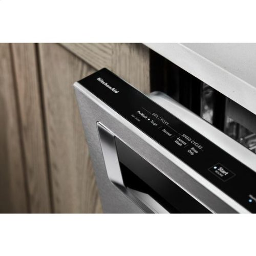 KitchenAid® 44 DBA Dishwashers with Clean Water Wash System and PrintShield™ Finish, Pocket Handle - PrintShield Stainless