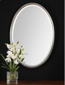 Casalina Nickel Oval Mirror