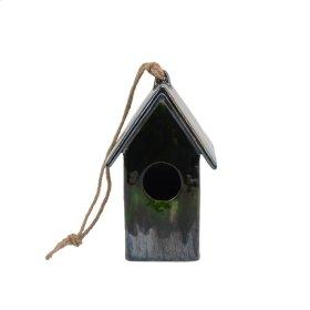Green Glaze Birdhouse