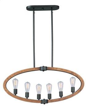 Bodega Bay 6-Light Pendant w/Bulb