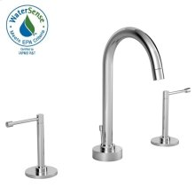 Stoic Widespread Lavatory Faucet - Pixie Handles - Polished Chrome