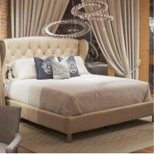 Meredian Leather King Bed