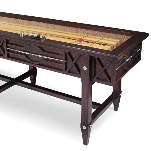 Spindle Shuffleboard Table - Walnut