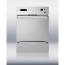 "Stainless steel 220V electric wall oven with digital clock/timer and pro handles; for cutouts 22 3/8"" wide by 34 1/8"" high"
