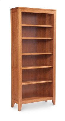 Justine Open Bookcase, 4-Adjustable Shelves