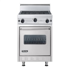 "Metallic Silver 24"" Char-Grill Companion Range - VGIC (24"" wide range with char-grill, single oven)"