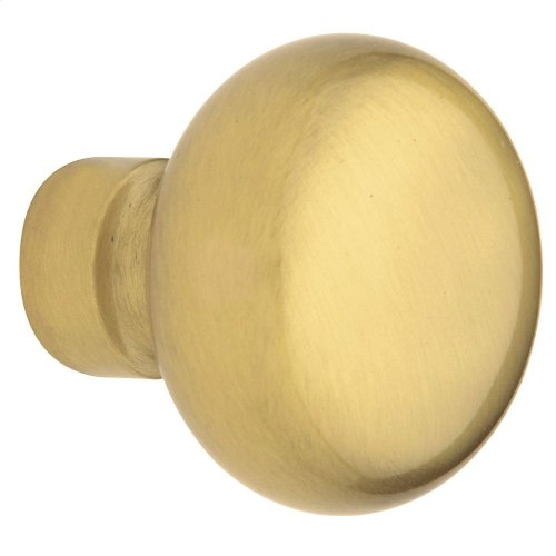 Satin Brass and Brown 5030 Estate Knob