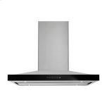 """JENN-AIRLustre Stainless 36"""" Pyramid Style Island Mount Canopy Hood"""