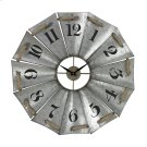 ALUMINUM AND ROPE WALL CLOCK Product Image