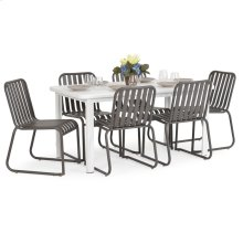 0100 Series 7PC Dining Set Charcoal