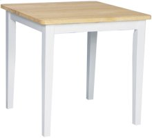 """30"""" x 30"""" Complete Table White & Natural"""