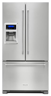 20 cu. Ft. 36-Inch Width Counter Depth French Door Refrigerator with Exterior Ice and Water - Stainless Steel