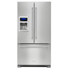 Out of Box Display Model 20 cu. Ft. 36-Inch Width Counter Depth French Door Refrigerator with Exterior Ice and Water - Stainless Steel