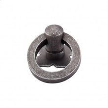 Smooth Ring 1 3/16 Inch w/Backplate - Pewter
