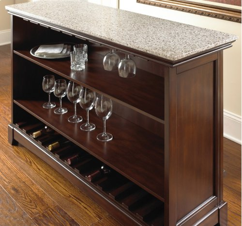 "Newbury Silverstone Top Counter Bar Unit, 56"" x 18"" x 38"" (KD)"