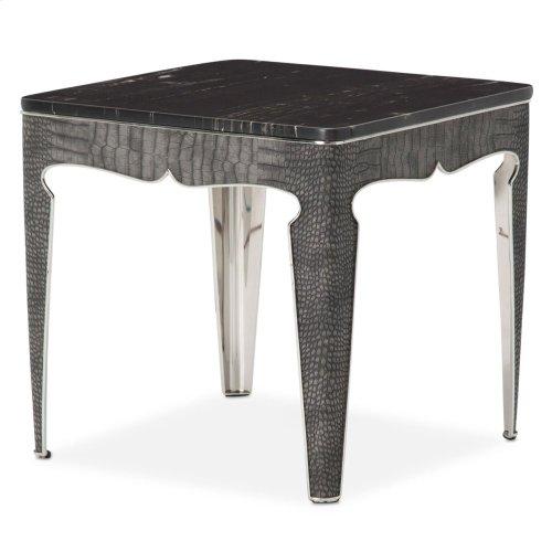 Carson End Table Silver