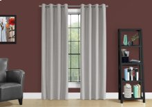 """CURTAIN PANEL - 2PCS / 52""""W X 95""""H SILVER SOLID BLACKOUT"""