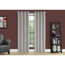 "CURTAIN PANEL - 2PCS / 52""W X 95""H SILVER SOLID BLACKOUT"