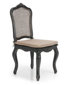 Bella Sandralena Dining Chair Black One Seat Cusion