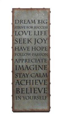 Galvanized Inspirational Wall Art