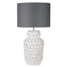 Keene Ceramic Lamp Gray Shade