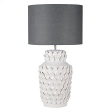 Keene Ceramic Lamp Gray Shade